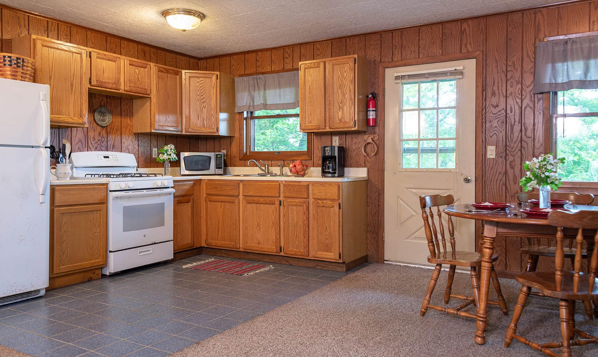 Americana Cabin kitchen near Buffalo Rock State Park