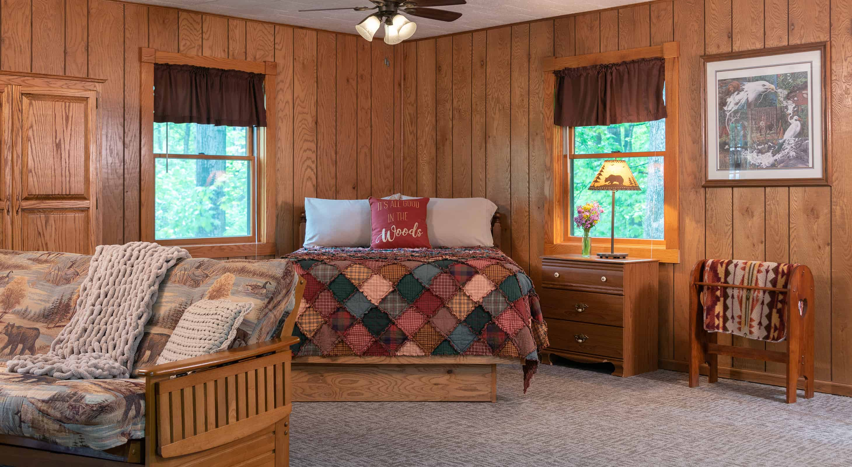 bed in the Apache Cabin