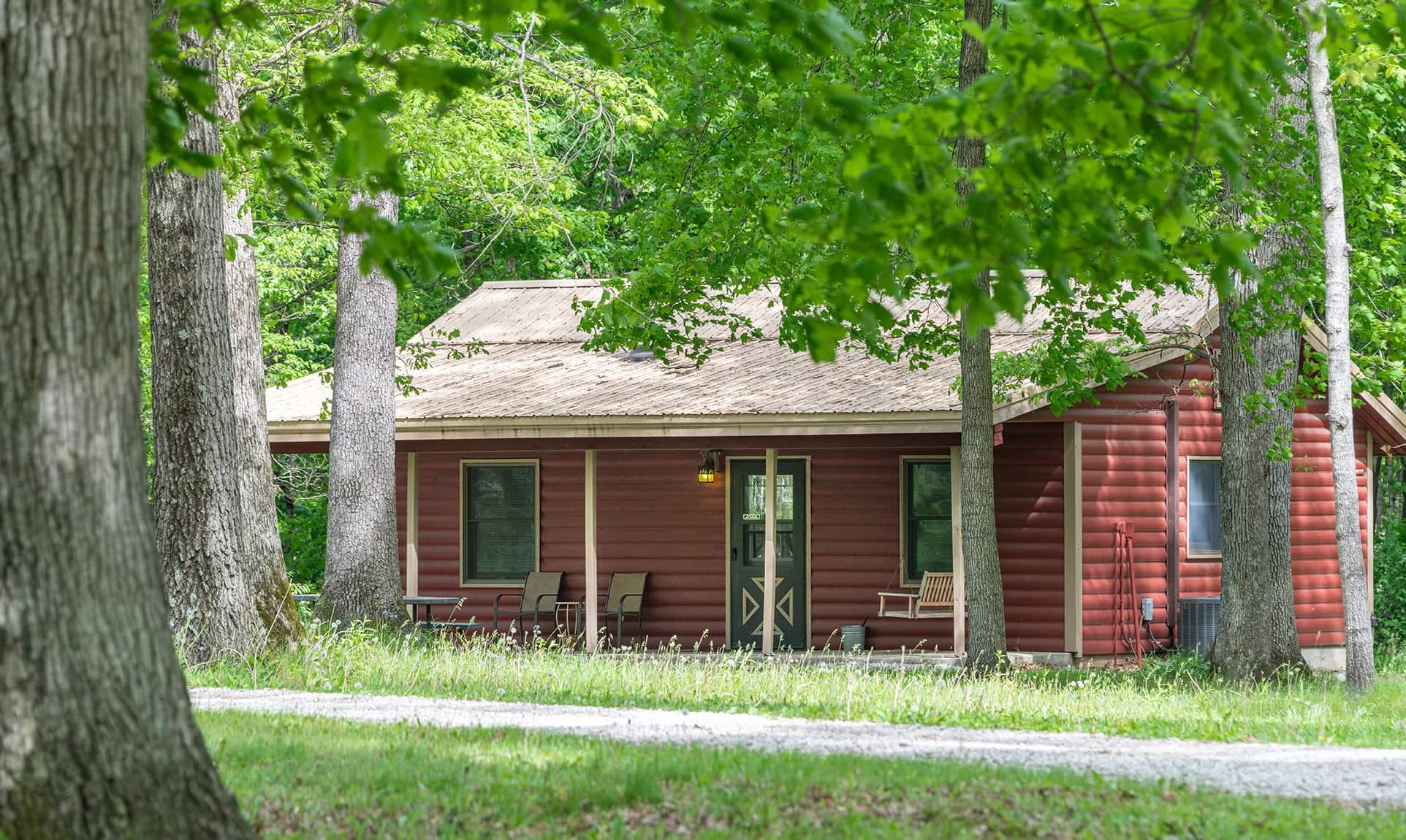 Apache Cabin exterior - a rustic Illinois cabin