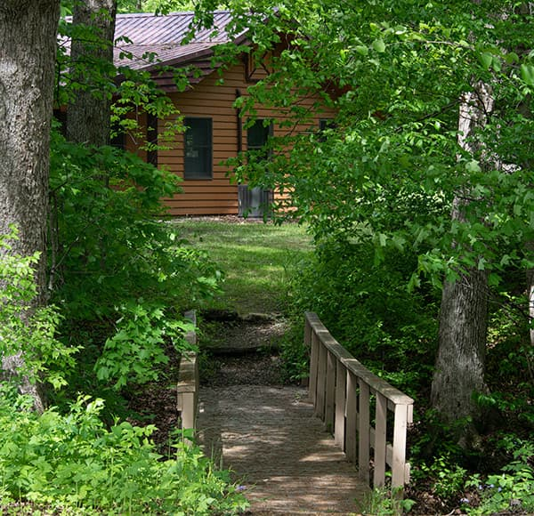 Bridge Cabin at our family friendly Illinois getaway