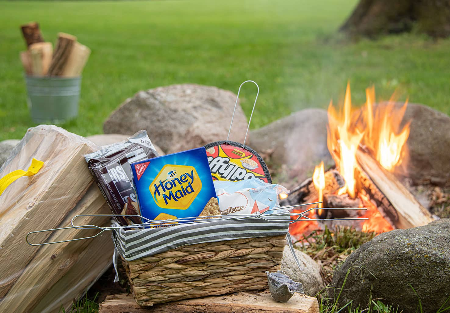 Campfire Package with items to make S'mores