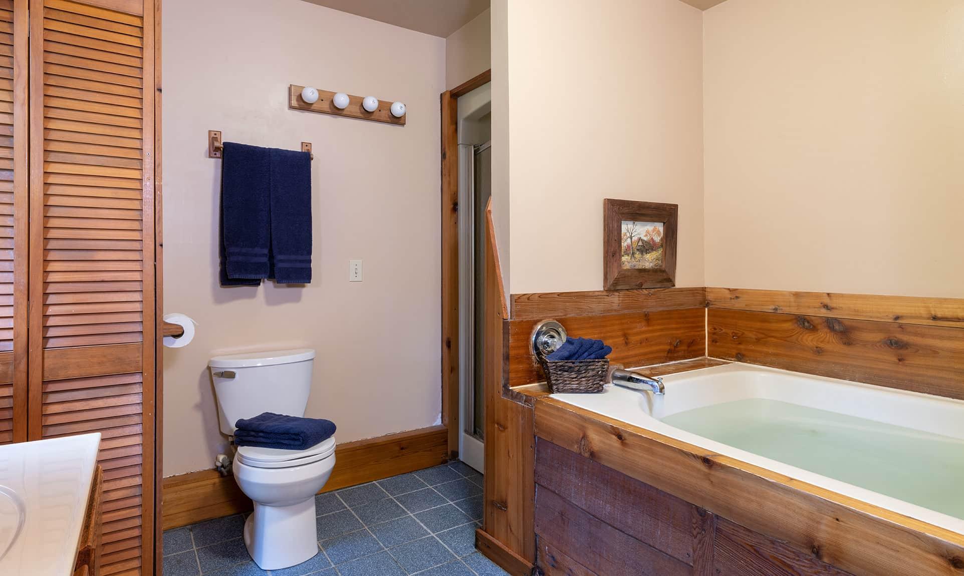 Commanche Cabin bathroom