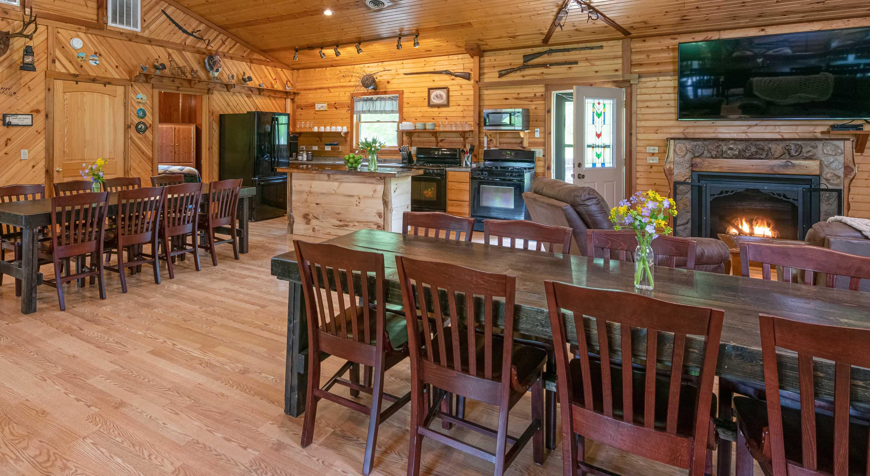 Grandma's Cabin for a family reunion near Chicago