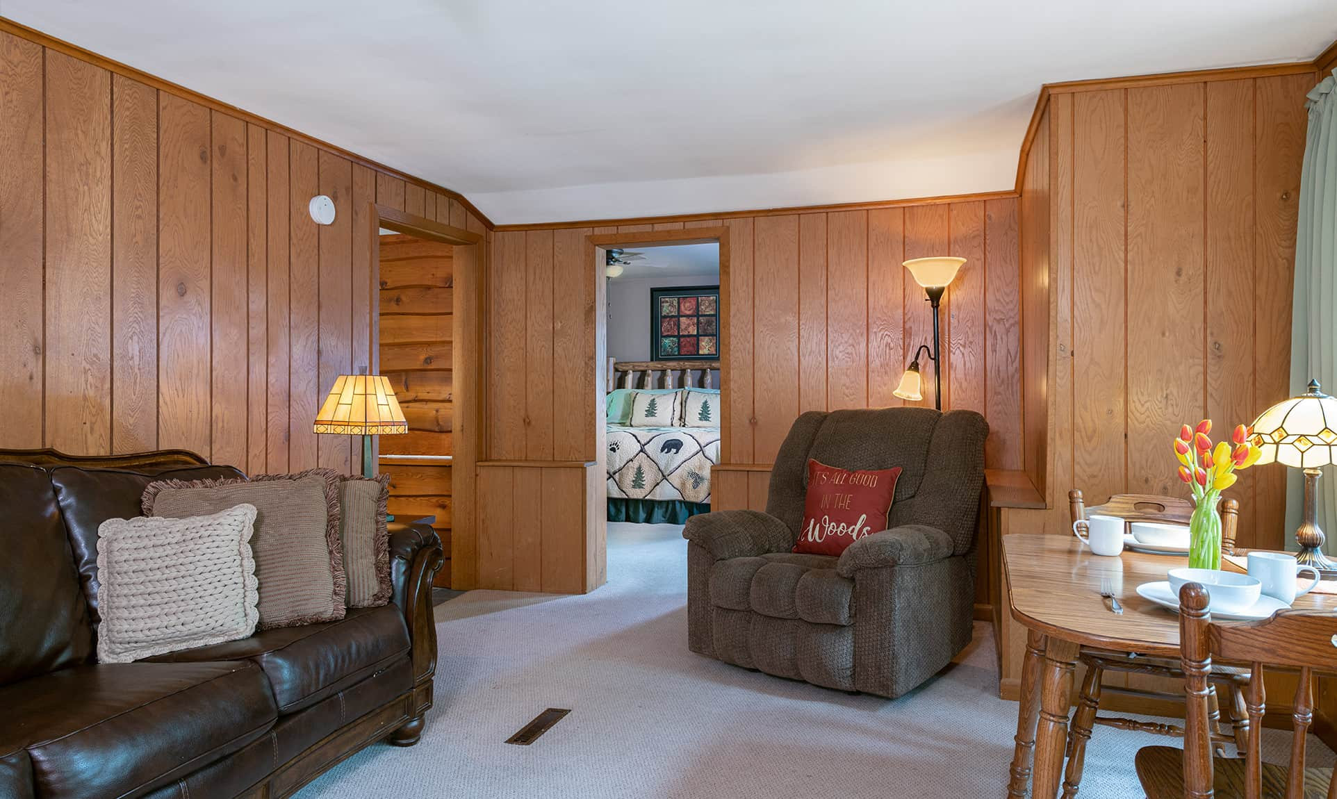 Jack's Deluxe Cabin sitting area