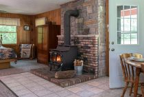 Mother-in-law wood burning stove - dog friendly cabin near Chicago