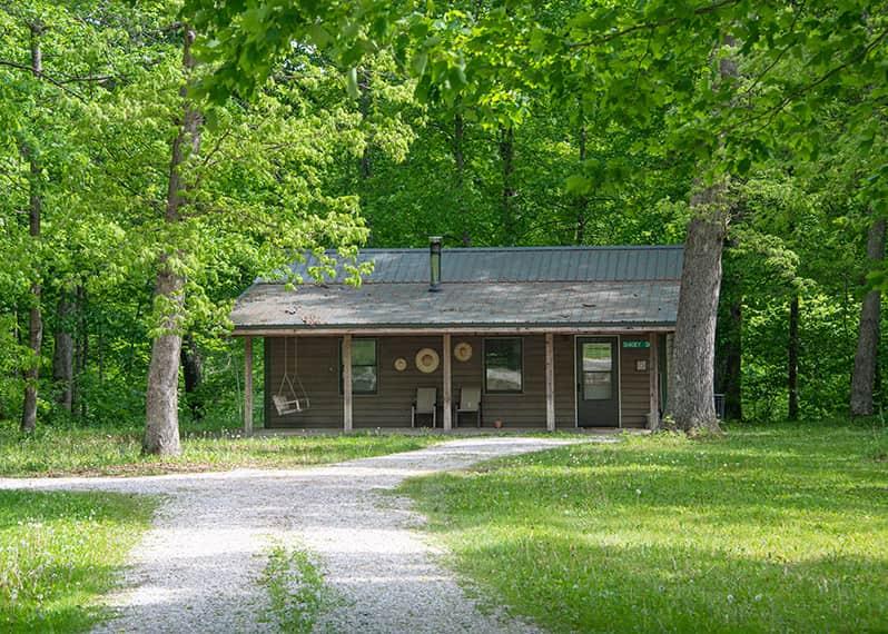 Shadey Oaks Cabin exterior