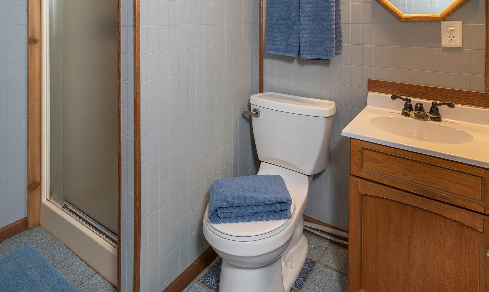 Trading Post Cabin bathroom