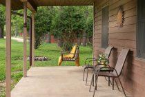 Winnebago Cabin porch - dog-friendly lodging near Starved Rock