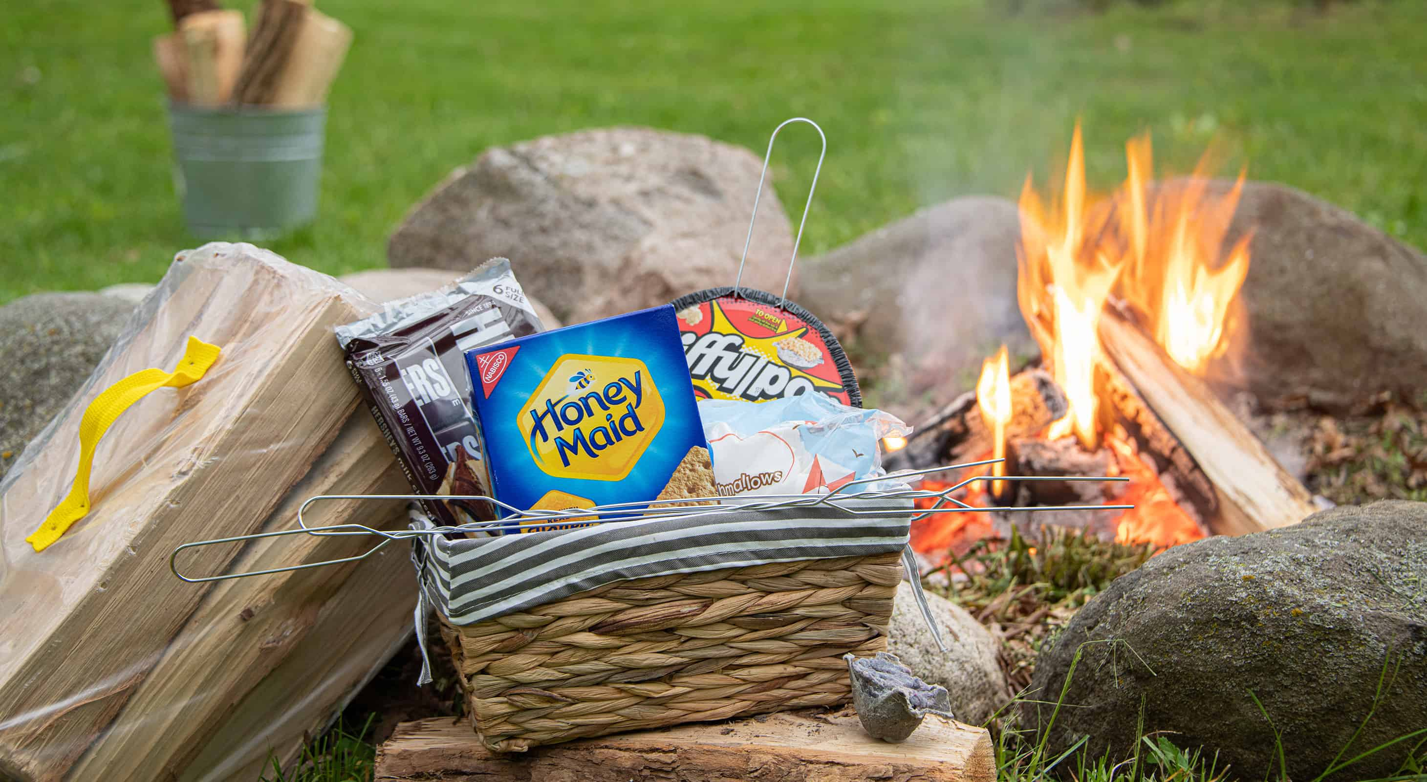 campfire and s'mores package