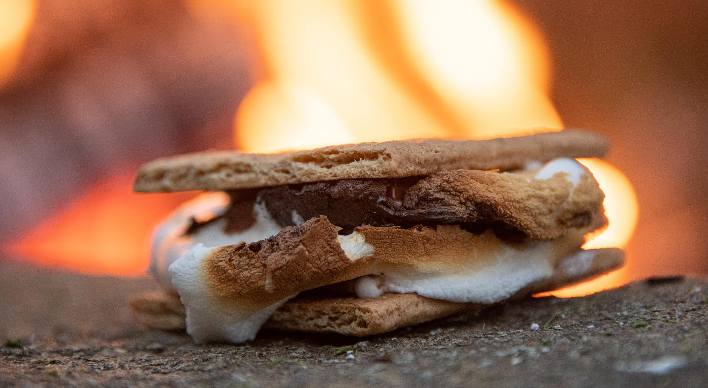 Cooked S'more at our cabin rentals near Starved Rock Park