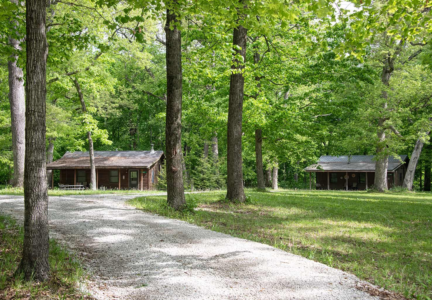 Two Cabins at Kishauwau in the Starved Rock Area